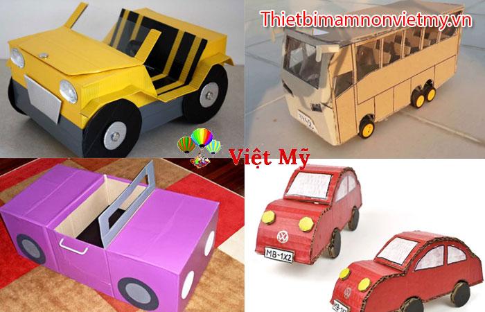 đồ dùng đồ chơi tự tạo chủ đề giao thông