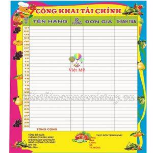 Bang Cong Khai Tai Chinh Vm6834