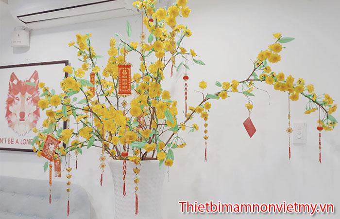 Huong Dan Trang Tri Cay Mai Gia Ngay Tet Cuc Dep 9