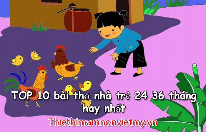 Top 10 Bai Tho Nha Tre 24 36 Thang 1