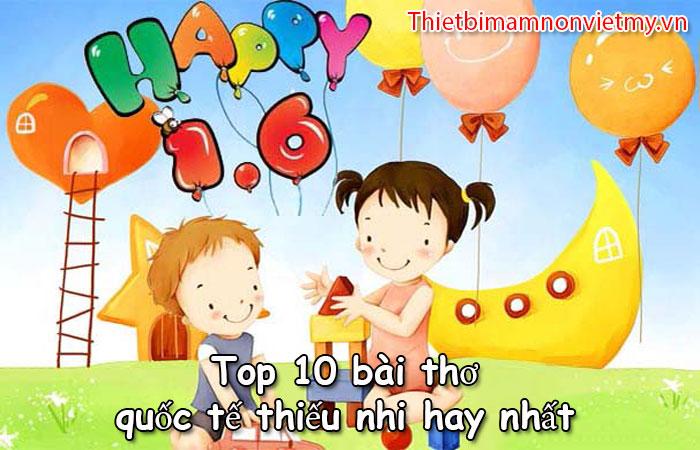 Top 10 Bai Tho Quoc Te Thieu Nhi Hay Nhat 1