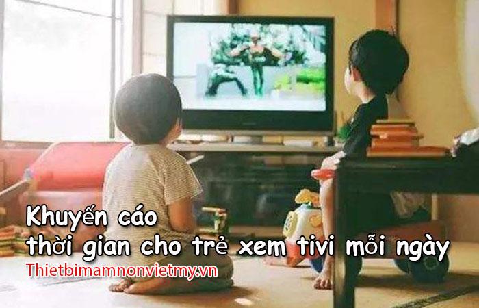 Khuyen Cao Thoi Gian Cho Tre Xem Tivi 1