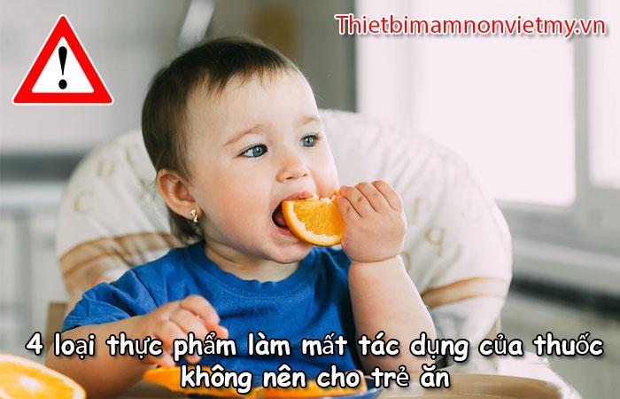 4 Loai Thuc Pham Lam Mat Tac Dung Cua Thuoc Khong Nen Cho Tre An 1 2