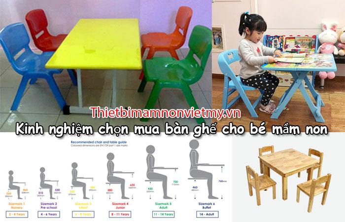 Kinh Nghiem Chon Mua Ban Ghe Cho Be Mam Non A